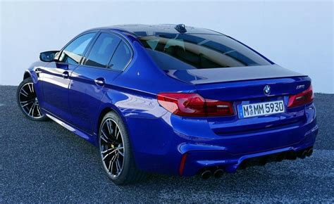 bmw m5 rear first drive 2018 bmw m5 review ny daily news