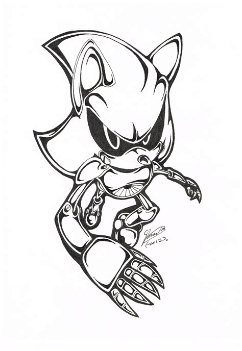 bw metal sonic by f sonic on deviantart