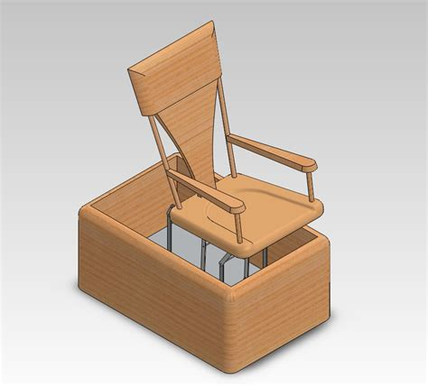 Mechanical Chair mechanical rocking chair in solidworks