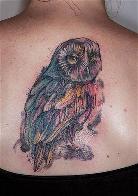abstract owl tattoo owl by kaleidoscope maija abstract watercolor