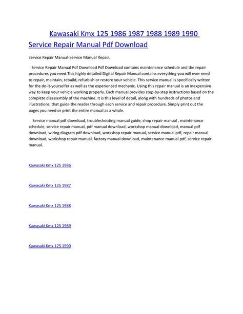 service manual download car manuals pdf free 1990 subaru legacy electronic throttle control kawasaki kmx 125 1986 1987 1988 1989 1990 service manual