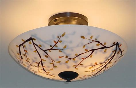 tree branch ceiling light fixture trees ceiling mounted glass light artisan crafted lighting