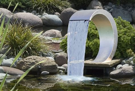 Wasserfall Gartenteich Edelstahl