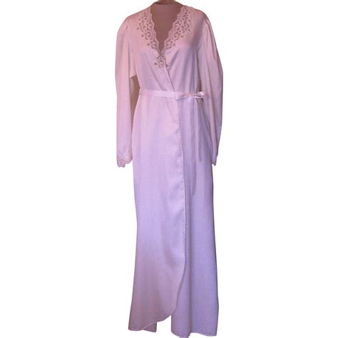 white robe vintage ralph montenero white robe with lace from beca