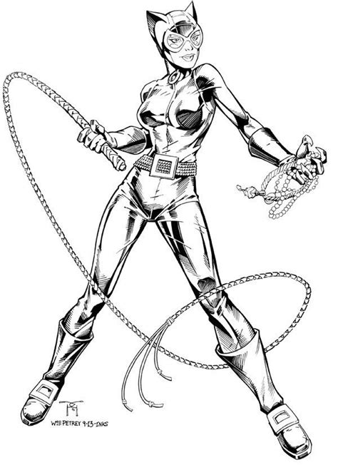 batman catwoman coloring pages catwoman traditional inks on behance drawing