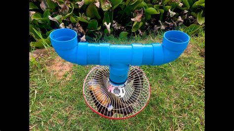 electric fan pipe creative boy pvc pipe and electric fan to fishing