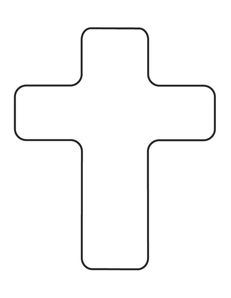 Cross Outline by Cross Outline Clipart Clipart Best