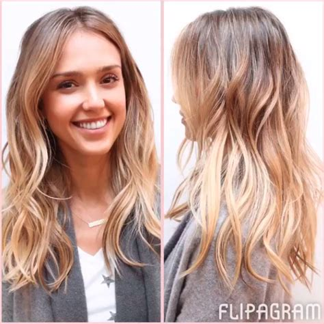 see jessica alba s balayage hair tranformation on instagram