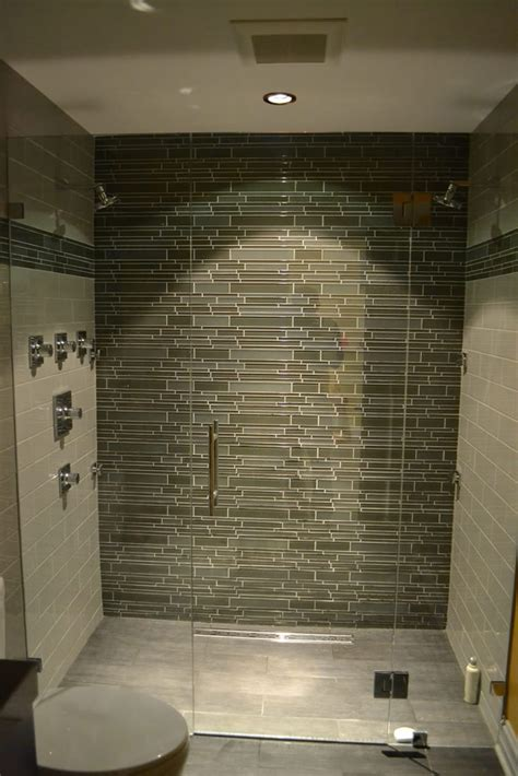 glass tile in bathroom modern bathroom lakeview il barts remodeling chicago il