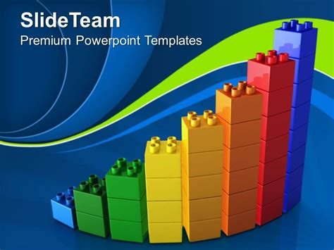 big building blocks powerpoint templates lego bar graph
