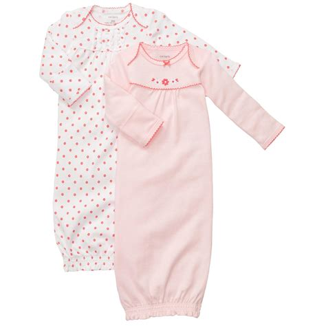 Baby Sleeper Gowns by Sweetheart 26x Striped And Polka Dot Dress
