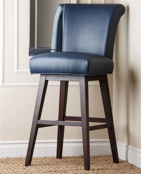 Blue Leather Bar Stools kent royal blue bonded leather bar stool contemporary bar stools and counter stools by