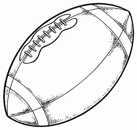 football drawing template football free printable coloring pages