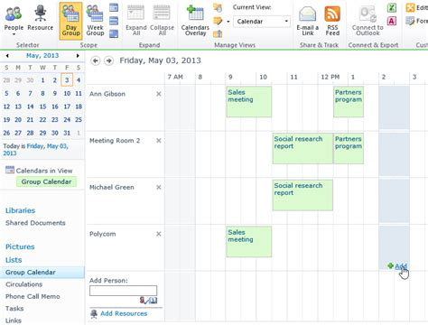 sharepoint calendar template reservation of resources in sharepoint 2013 and sharepoint