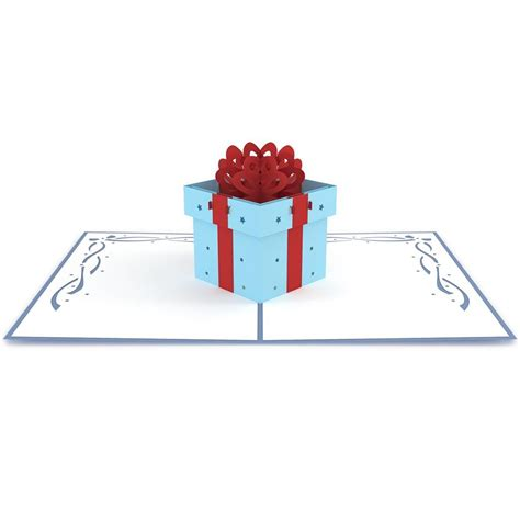 gift box pop up card template birthday present pop up birthday card lovepop