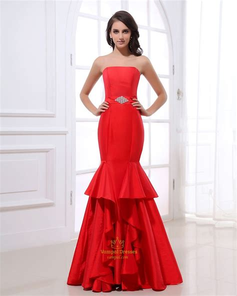 hairstyles for strapless evening dresses 8 best red mermaid prom dresses images on pinterest