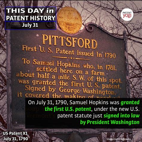 this day in automotive history books on july 31 1790 the u s patent was granted this