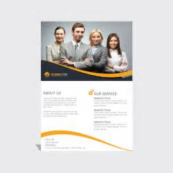 free leaflet template psd leaflet template with yellow wavy lines psd file free