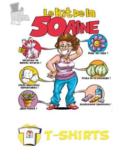 t shirt kit anniversaire 50 ans femme mister