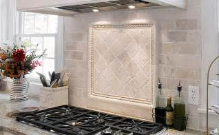 Kitchen Tile Backsplash Ideas With White Cabinets by Antiqued Ivory Subway Backsplash Tile Idea Backsplash