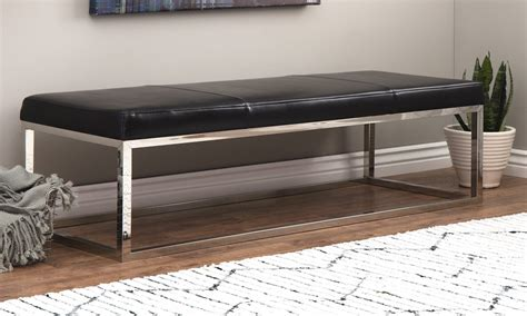 modern black bench top 5 modern bench styles for your home overstock com