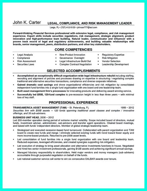 Example Objectives In Resume by Best Compliance Officer Resume To Get Manager S Attention