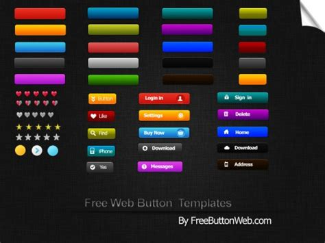 button templates free best free psd templates for wpaisle