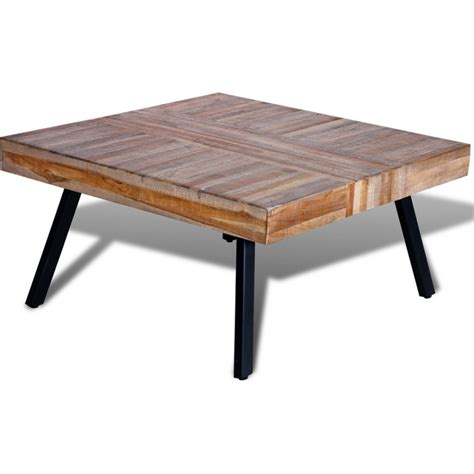 reclaimed wood square coffee table reclaimed teak wood square coffee table 80cm buy coffee