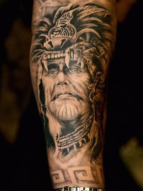 arm tattoo native native american chief arm tattoo