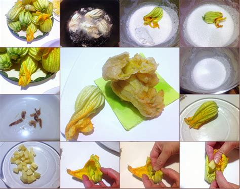 pastelle di fiori di zucca fiori di zucca fritti in pastella e farciti con alici ed