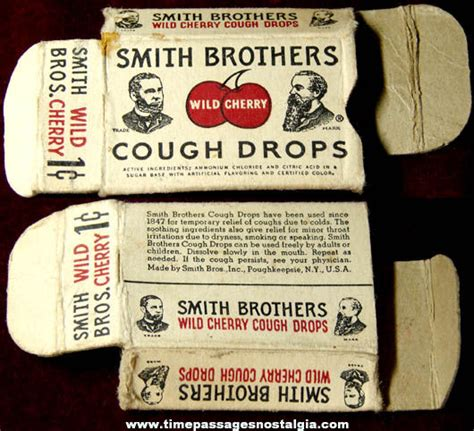 Smith Brothers by One Cent Smith Brothers Cherry Cough Drop Box Tpnc