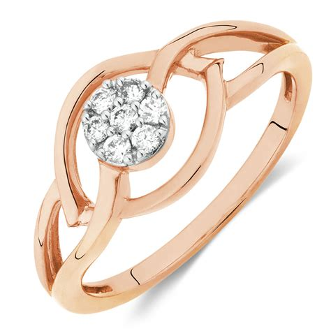promise ring with diamonds in 10ct gold