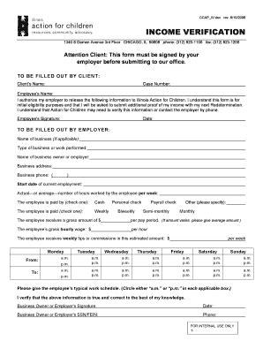 Food St Verification Letter New York Illinois Income Verification Fill Printable