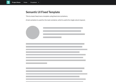 semantic ui layout exles layouts semantic ui