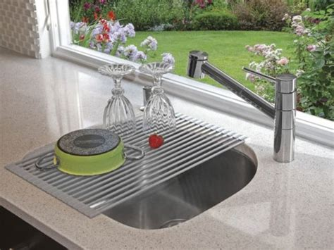 Above The Sink Dish Rack by Space Saver Dish Drainer Drying Rack Mat Sink Roll
