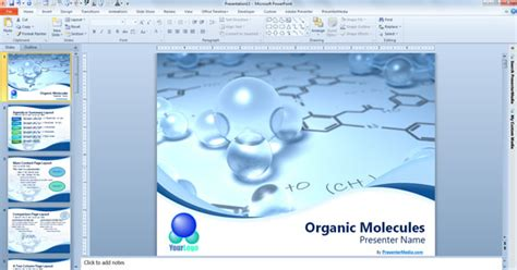 Free Scientific Powerpoint Template Free Chemistry Powerpoint Template