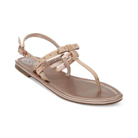 vince sandals vince camuto magda flat sandals in beige black