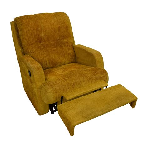 yellow leather recliner chair 75 off unknown brand yellow recliner chair chairs