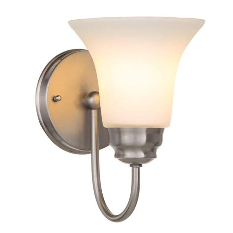 Sconce Bathroom Lighting Nickel Hton Bay Sconces Bathroom Lighting Lighting Ceiling Fans The Home Depot