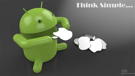 android bot pin apple eats android on