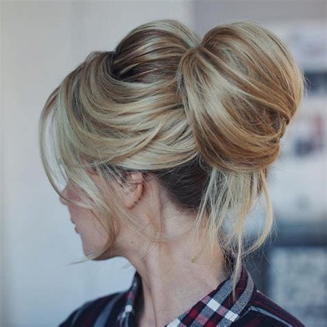 hairstyles for long hair knots best 35 top knot bun ideas on therighthairstyles