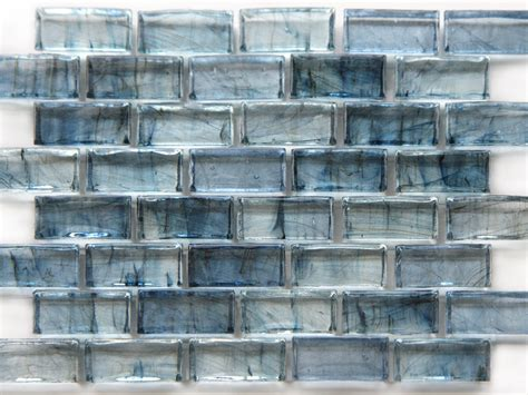 pattern glass wall mirabelle collection glass tile teal blue brick pattern