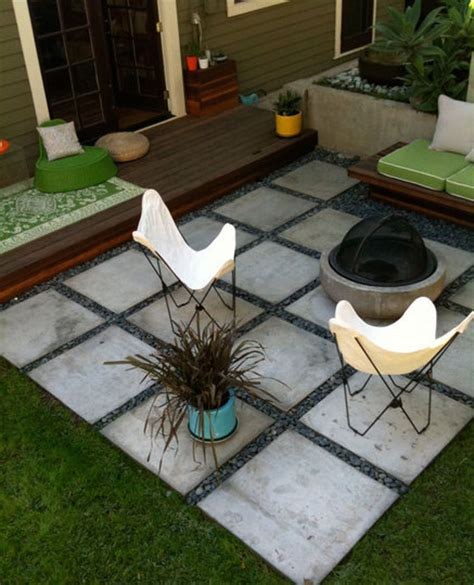Patio Inspiration Living Well On The Cheap How To Make A Cheap Patio