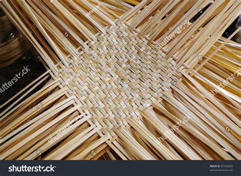 weaving mat weaving bamboo mat stock photo 95326243