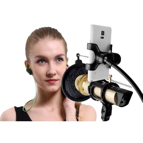 Microphone Smartphone Stand Holder 360 Degree condenser microphone stand holder 360 lazypod with smartphone cl black jakartanotebook