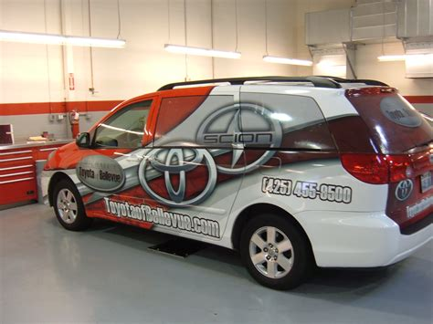 auto dealer toyota auto dealership fleet wraps autotize