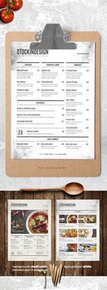 menu template indesign free food menu template adobe indesign templates for restaurants