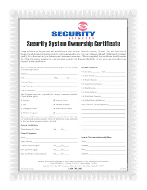 alarm installation certificate template congratulations certificate forms and templates fillable