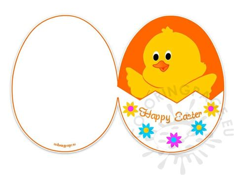 free easter card templates to print easter card printable free coloring page