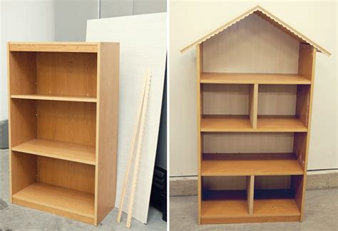 diy dollhouse bookshelf handmade gift simple